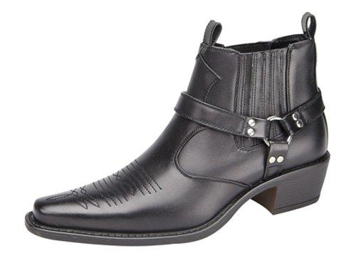 Us Brass Herren Westernboots Stiefel, Schwarz - schwarz - Größe: 44 (10 UK)