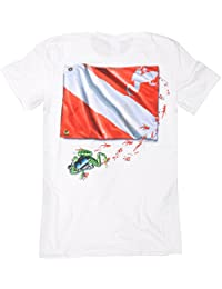 Amphibious Outfitters–Frog Flag–White T-Shirt for Scuba Divers and snorkelers