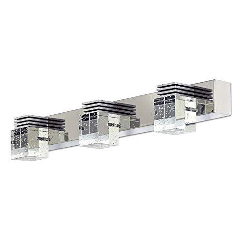 Moderne LED spiegelleuchte bad MIR-1B-3P, 9W, 980lm, 3000k, 46cm, Spiegelbild, Chrom poliert, badlampe spiegel. Led badspiegel badezimmer lampe badleuchte wand -