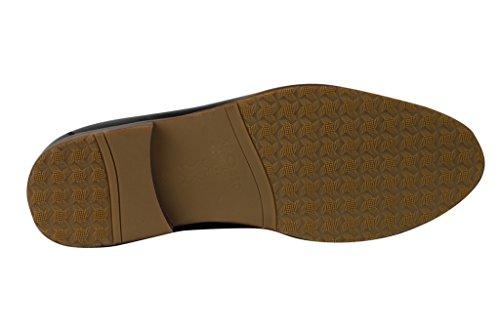 Herren Echt Leder Braun & Tan Smart Casual Quaste Ferse Slipper Slip On Vintage Mod fahren Schuhe Dark Chocolate
