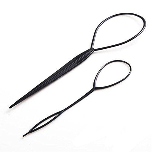 lnlyin Haar-Styling-Werkzeug, Zopf, flechten, Frisur, plastik, 2 Bags, cm