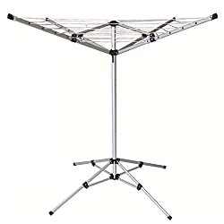 Oypla 15m 4 Arm Lightweight Free Standing Aluminium Rotary Airer Portable Washing