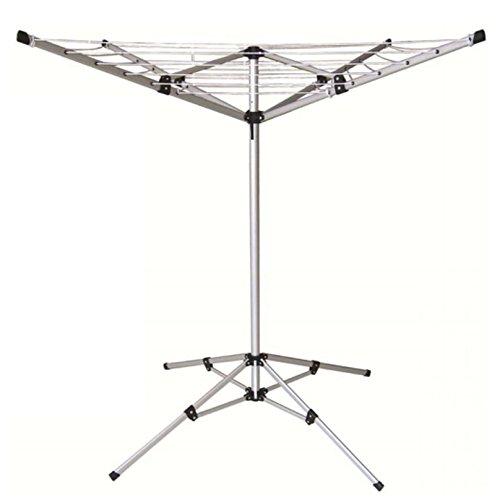 Oypla Wäscheständer mit 4 Armen, leicht, freistehend, Aluminium, 15 m - Freistehender Wäscheständer