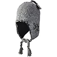 screamer tweed Earflap cappello donna, Charcoal/Heather