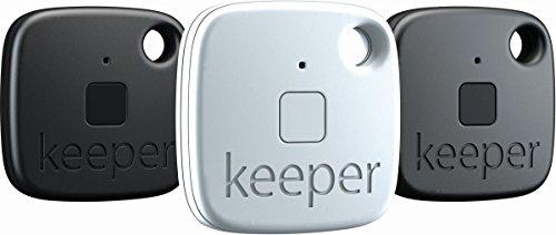 Gigaset Keeper  Pack de 3 Portes-clés connectés  avec Alertes sonores/lumineuses Bluetooth 4.0 Noir/Blanc
