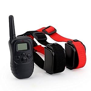 Zogin Collier de Dressage etanche rechargeable pour un Chien Collier anti-aboiement de 100 niveaux vibration avec une LCD Telecommande numerique - 1 Collier