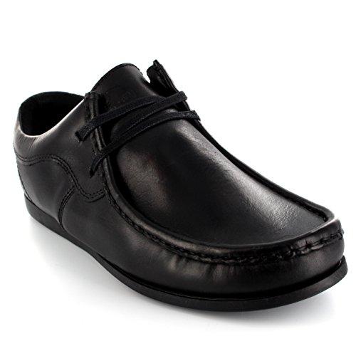 Hommes Ikon River Original Wallabee Flâneur Intelligent Cuir Chaussures Noir