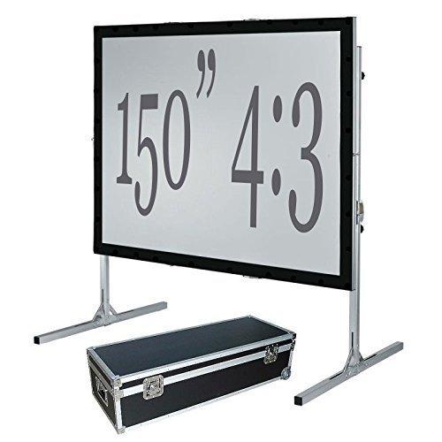 381cm Fast Fold Projektionsfläche, vorne & hinten, 4: 3HD - Drei-fold-bildschirm