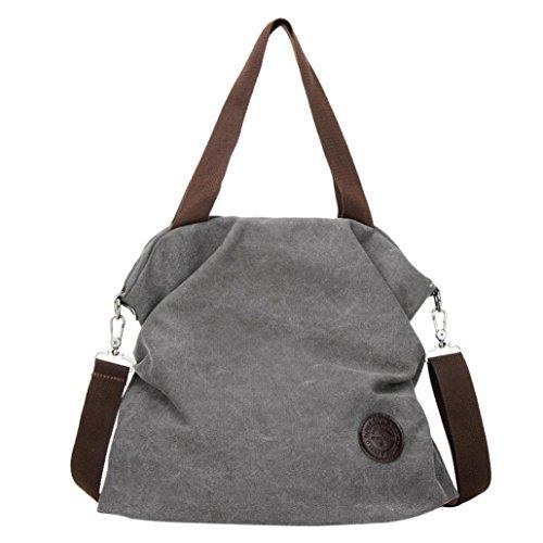 Handtaschen Damen Groß Stoff Elegant Grau