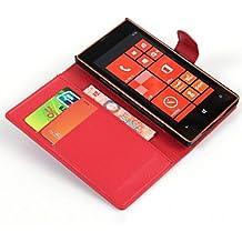 Proteja su teléfono, Compatibilidad con tarjetas en relieve de pie para la protección nokia lumia520 ( Color : Rojo )