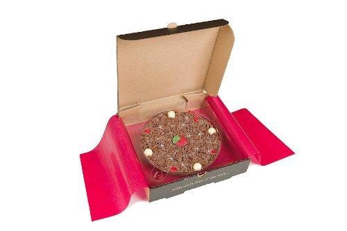 Pizza Gourmet Schokolade Belgische Schokolade Erdbeere & Champagner 7 \' Pizza -Geschenk