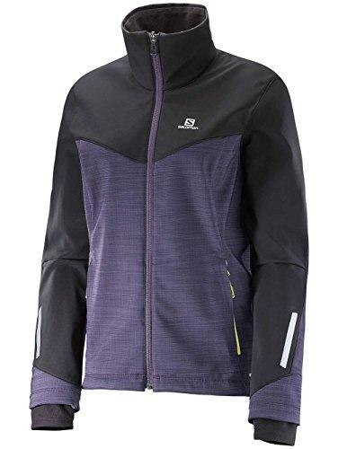 Damen Outdoor Jacke Salomon Pulse Softshell Outdoorjacke nightshade grey/black