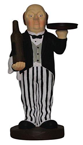 Dekofigur Butler mit Flasche und Tablett, Kellner, Diener, 57 cm, Gastronomie NEU (Bistro-statue)