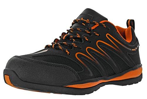 REIS Ecuador Arbeitsschuhe Berufs-Schuhe Ohne Stahl-Kappe, Rutschfeste Sohle, Antistatisch, Farbe Orange, Größe: 46