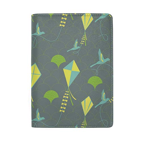 Avian Kite Flyers Passport Holder Wallet Cover Case Leather Travel Wallet ID Card Case - Kite Flyer