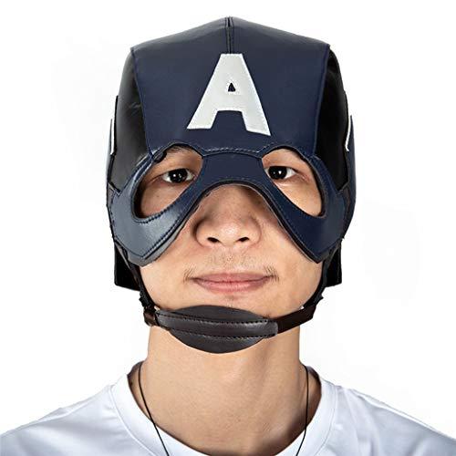 Liabb Marvel Avengers Assemble Cos Captain America Cosplay Maske Helm Dressing Up Kostüm Maske für Kinder Erwachsene,A,OneSize