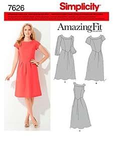 Simplicity S7626.BB Patron de Couture Robe Dame