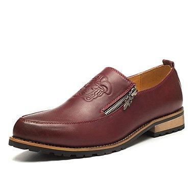 Chaussures d'hommes et de l'emploi de bureau/occasionnel/Party & Soir Oxford en cuir rouge/jaune Yellow