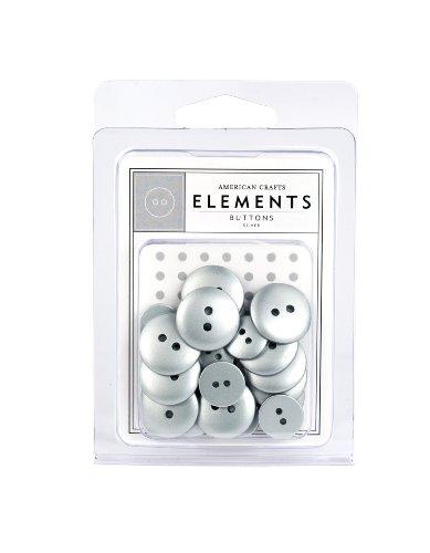American Crafts Elements Tasten, silber - American Crafts Elements Brads
