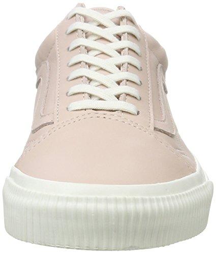 Vans Old Skool, Chaussures de Running Femme Rose (Sepia Rose/blanc De Blancembossed Sidewall)
