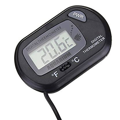 Hosaire Black Digital LCD Thermometer with Suction Cup For Probe Cable Fish Tank Water Aquarium Marine 8
