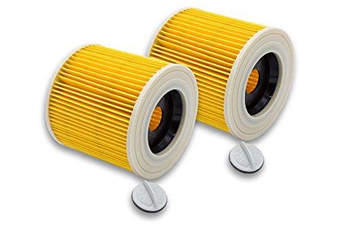 vhbw 2x Patronen Filter für Waschsauger Kärcher WD 1, WD 3.200, WD 3.300 M, WD 3.500 P wie 6.414-552.0.