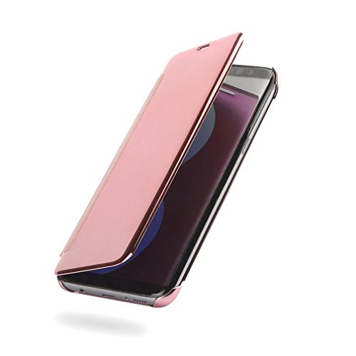 Preisvergleich Produktbild Ouneed® Für Samsung Galaxy S8 Plus Hülle ,  Geschenk glitzer Luxury Smart window Sleep Wake UP Flip Leather Case Cover für Samsung Galaxy S8 Plus (Rosa)