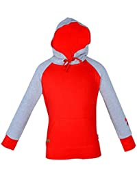 Gkidz Infants Full Sleeve Hooded Embroidered Red SweatShirt(WWG-004-RED_Red)