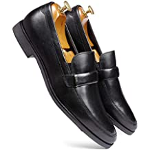 one8 Select by Virat Kohli Men's Black Leather Formal Loafer