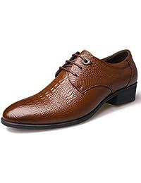 4c9e745288d1d Zapatos Oxford de Negocios para Hombres Zapatos de Cuero con Corbata  Puntiaguda Calzados Informales Zapatos portátiles