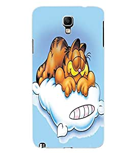 ColourCraft Funny Cartoon Cat Design Back Case Cover for SAMSUNG GALAXY NOTE 3 NEO DUOS N7502