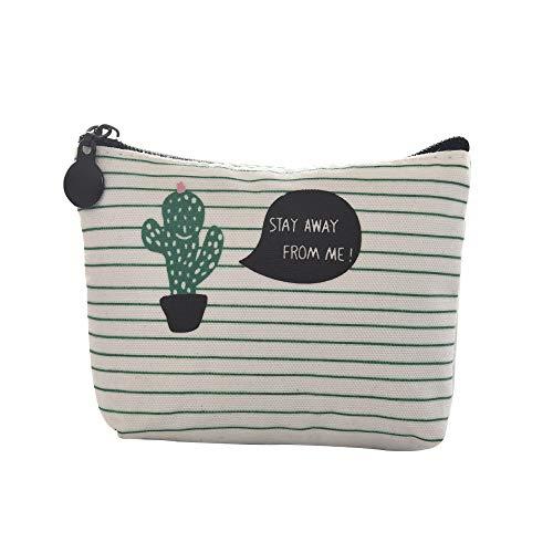 Damen Geldbörse Geldbörse Cactus Change Pouch Key Holder Bag - E-geld-sorter