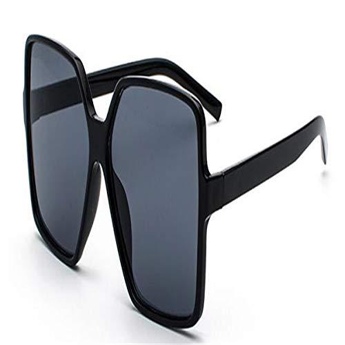 Sport-Sonnenbrillen, Vintage Sonnenbrillen, Oversized Champagne Sunglasses Women Ocean Candy Ladies Shades NEW Big Frame Sun Glasses Female UV400 Protection black grey
