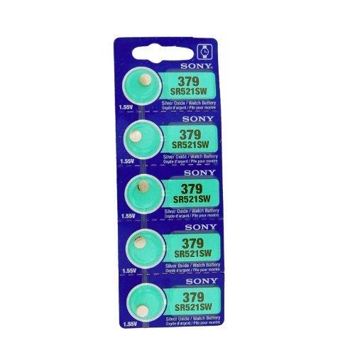 SR521SW Sony Silberoxid-Batterien (Größe 379), 5 Stück