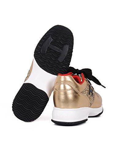 Hogan , Chaussons de gymnastique pour femme or or 36 Or