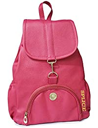 VIVARS PU Leather Backpack School Bag Student Backpack Women Travel bag 6  Backpack (Pink) 8a7090a4b5