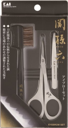 Seki Edge Scissors (Kai Sekimagoroku High Quality Beard comb with scissors)