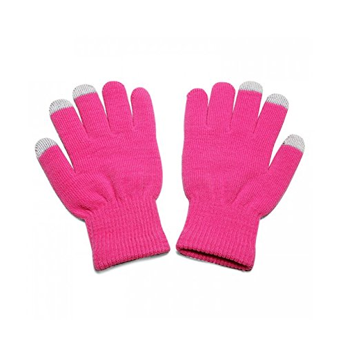 Pink Unisex Full Finger One Size TouchTip TouchScreen Winter Gloves For Meizu m1 metal / Blue Charm Metal