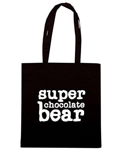T-Shirtshock - Borsa Shopping OLDENG00669 super chocolate bear Nero