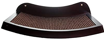 Cat Shelf modern curved wood wall mounted perch - an elevated cat bed your cat will love immediately!