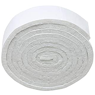 Adsamm® | Self-Stick Furniture Felt Strips for Cutting | Felt pad | 0,75'' x 39,37'' (19x1000 mm) | White | Angular | self-Adhesive Furniture Glides in top-Quality by Adsamm®