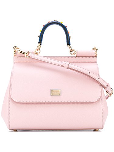 Dolce-E-Gabbana-Womens-BB6002AI3528H402-Pink-Leather-Handbag