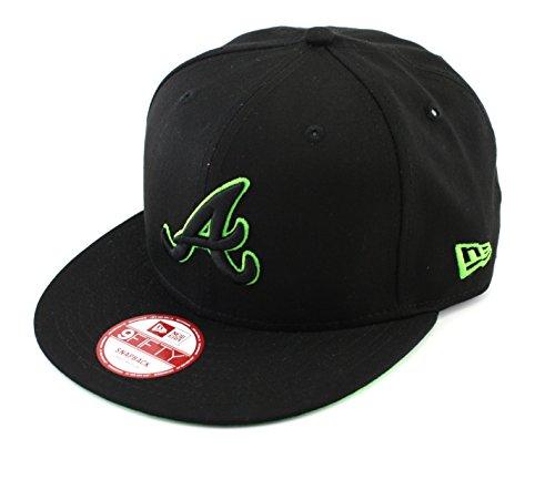 173c3c5d448 New Era Herren Snapback Cap Pop Basic Outline Atlanta Braves schwarz  schwarz S M