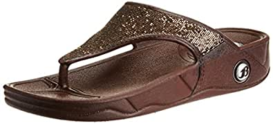 Bata Women's Kafi Brown Slippers - 8 UK/India (41 EU) (5724014)
