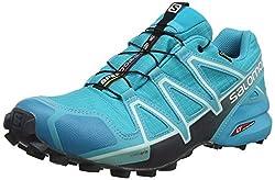 Salomon Damen Trail Running Schuhe, SPEEDCROSS 4 GTX W, Farbe: blau (bluebird/icy morn/ebony) Größe: EU 42