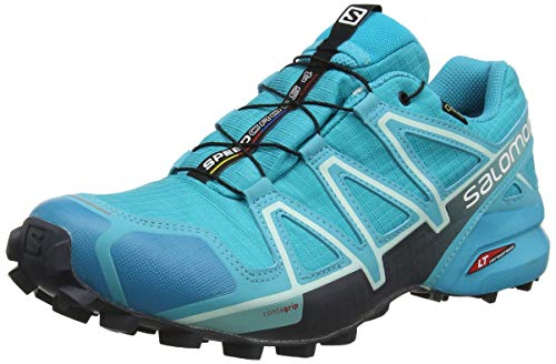 Salomon Damen Speedcross 4 Gtx Traillaufschuhe , Blau (Bluebird/Icy Morning/Ebony) , 39 1/3 EU