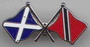 Trinidad und Tobago and Schottland Schottisch Freundschaft Flagge Abzeichen (Trinidad Tobago-embleme Und)