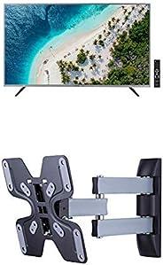 Eono by Amazon Smart LED Fernseher, 40 Zoll TV (101 cm), Full HD mit AmazonBasics Performance TV Wandhalterung