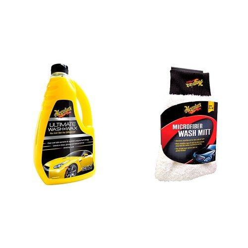 Meguiar's G17748EU Ultimate Wash & Wax Autoshampoo und Meguiars ME X3002 Microfibre Wash Mitt