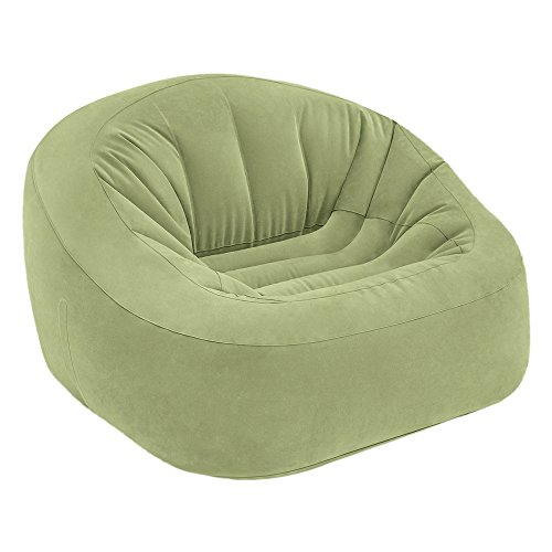 Intex 68576NP - Sillón hinchable Beanless Bag Club en color verde 124 x 119 x 76 cm